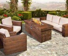 plank and hide preece outdoor patio rectangle fire table is available at jacobs custom living the preece outdoor collection is fort defined