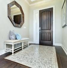 tile rug bronze plush luxury blue ivory moorish