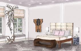 Modern Interior Design Bedroom Drawings With Foundation Dezin