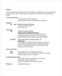 8 Nursing Resume Objectives Sample Templates