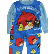 Angry Birds Big Boys Blue Cartoon Inspired 2 Pc Pajama Set 8-10
