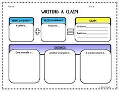 argumentative persuasive essay graphic organizer claim reasons  writing a claim graphic organizer color and bw versions graphic organizersargumentative essayessay