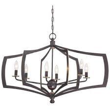 middletown 6 light downtown bronze chandelier