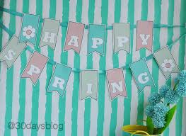 Happy Spring Free Downloadable Printable Banner