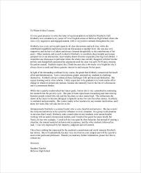 High School Recommendation Letter For Student Sample Recommendation Letter For High School Student 9