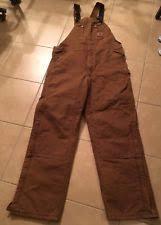 Carhartt Men's Quilt Lined Duck Bib Overalls R02 Brown 34 X 32 | eBay & Carhartt Brown Men's R27 Sandstone Duck Bib Overall/Quilt-Lined 38x34 NWT  No Def Adamdwight.com