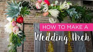 Wedding Arch Decorations How To Wedding Arch Youtube