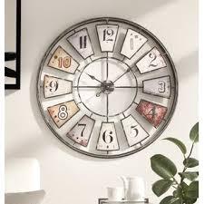 large metal wall art clocks