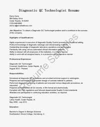 Fascinating Medical Technology Resume Aboutt No Experience Amusing