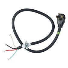 shop extension power cords at lowes com whirlpool 4 ft 4 wire black range appliance power cord