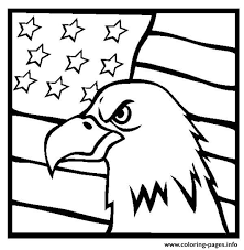 Small Picture American Eagle And Us Flag Coloring Pages Printable