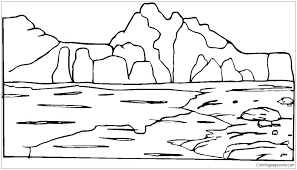 mountain coloring pages mountains coloring page rockountain coloring page smoky mountains coloring pages free