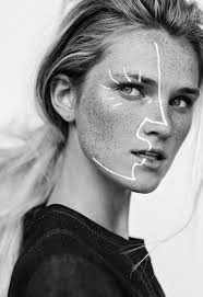 more and more pin things black and white makeup white face makeup