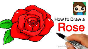 Easy To Draw Roses How To Draw A Rose Step By Step Easy Youtube