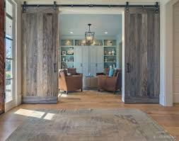 Unique rustic wooden sliding door