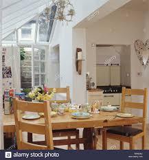 Extension Kitchen Simple Wooden Table And Chairs In Small White Dining Room