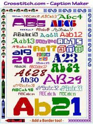 Cross Stitch Chart Generator Cross Stitch Caption Maker Text Alphabet Border Pattern