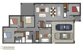 floor plan. 2d Colored Floor Plan Rendering