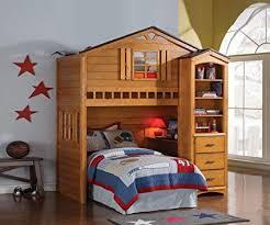 acme 10160 Tree House Loft Bed, Rustic Oak