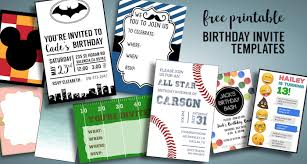Boys Birthday Party Invitations Templates Birthday Invitations Free Printable Templates Paper Trail