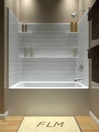 ... Bathtubs Idea, Large Tub Shower Combo Bathtub Shower Combination Front  View: glamorous large tub ...