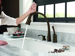 Delta Touchless Kitchen Faucet Impressive Delta No Touch Kitchen Faucet Tags Touchless Kitchen