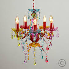 mini multi coloured marie therese 5 way ceiling light fitting gypsy chandelier 1 of 4free see more