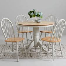 cky 100 cm round dining table 4 chairs