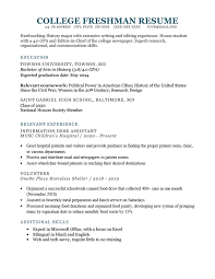 As shown in the college student resume template for word, there may be a variety of different work experiences that could be relevant to the job you're trying to land. How To Write A College Freshman Resume Template Example