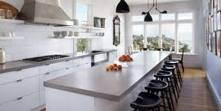 Cropped Modern White Kitchen Cabinet With Elegant Black Stools Using