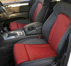 audi q7 s line 7 seat black leather with red inserts silver stitching 003