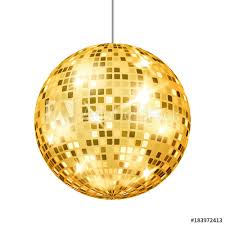 gold disco ball vector club retro party classic light element mirror ball