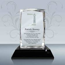 pastor appreciation gift 3d presidential crystal plaque 025 design a