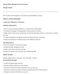 Medical Office Manager Resume Awesome Resume Objective For Fice
