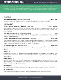 Animator Resume Excellent 100d Animator Resume Format Images Example Resume Ideas 88