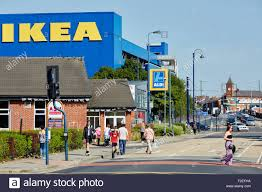 ikea furniture store exterior on a sunny day in aston under lyne tameside F2EFHA