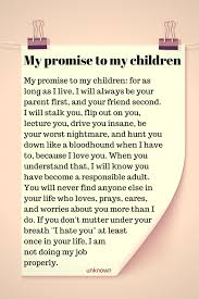 MY PROMISE TO MY CHILDREN Parenting Pinterest My Children My Enchanting I Love My Children Quotes