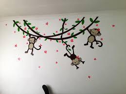 baby girl monkey wall decals