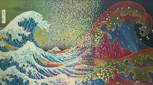 trippy wallpaper 2385x1314