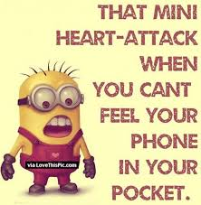 Phone Quotes Gorgeous When You Cant Feel Your Phone Minion Quote Pictures Photos And