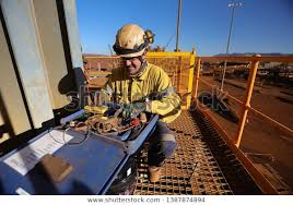 Miner Ndt Inspector Setting On Chair Stock Photo Edit Now