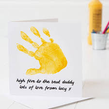 Day Cards To Print Personalised Hand Print Father S Day Card By Twenty Seven