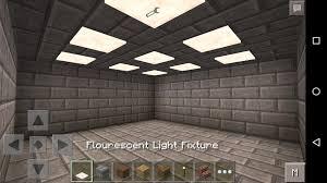 How To Make A Ceiling Light In Minecraft Fluorescent Light Fixtures Minecraft Pe Mods Addons