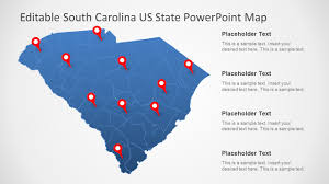 Usa Map For Powerpoint South Carolina Us State Powerpoint Map