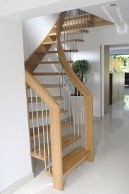 Staircase Options For Small Spaces Alluring Design Ideas Of Small Space  Staircase With Brown Wooden Treads