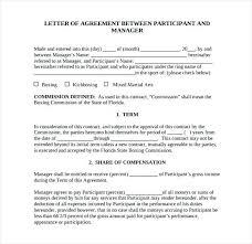 Letter Of Understanding Template Word Letter Understanding Template Word Collection Download By