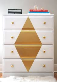 color ideas for painting furniture. Paint A Thrifted Dresser And Add Some Bling With Gold Diamond. Color Ideas For Painting Furniture