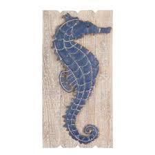 navy seahorse wall d cor on seahorse wall art for bathroom with seahorse decor wayfair