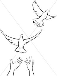 dove flying clipart.  Dove Two Released Doves Intended Dove Flying Clipart F