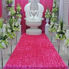 aliexpress com buy wedding decoration home party table skirt Wedding Background Stage Designs aliexpress com buy wedding decoration home party table skirt stage backdrop 3d rose petal door curtains photo booth props background carpet from reliable wedding stage background ideas